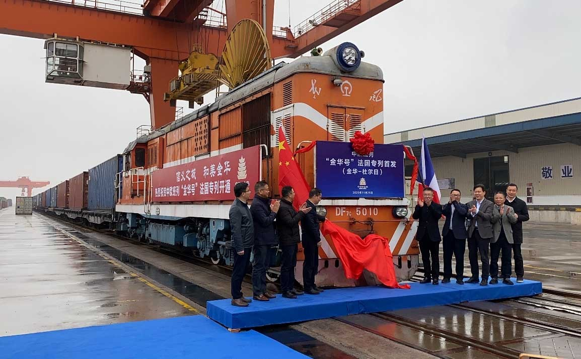 New freight train to France launched in E China's Jinhua