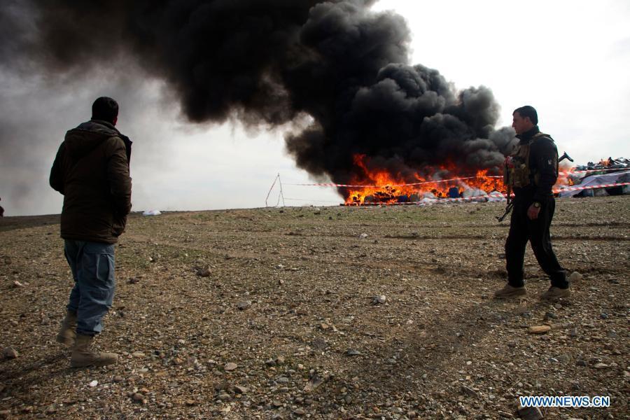 24 tons of drug destroyed in Afghanistan's eastern province