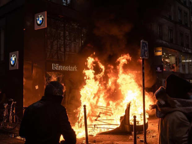 Protests against controversial police law turn violent in France