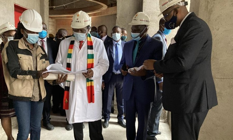Zimbabwean president hails progress on Chinese-funded new parliament building despite COVID-19