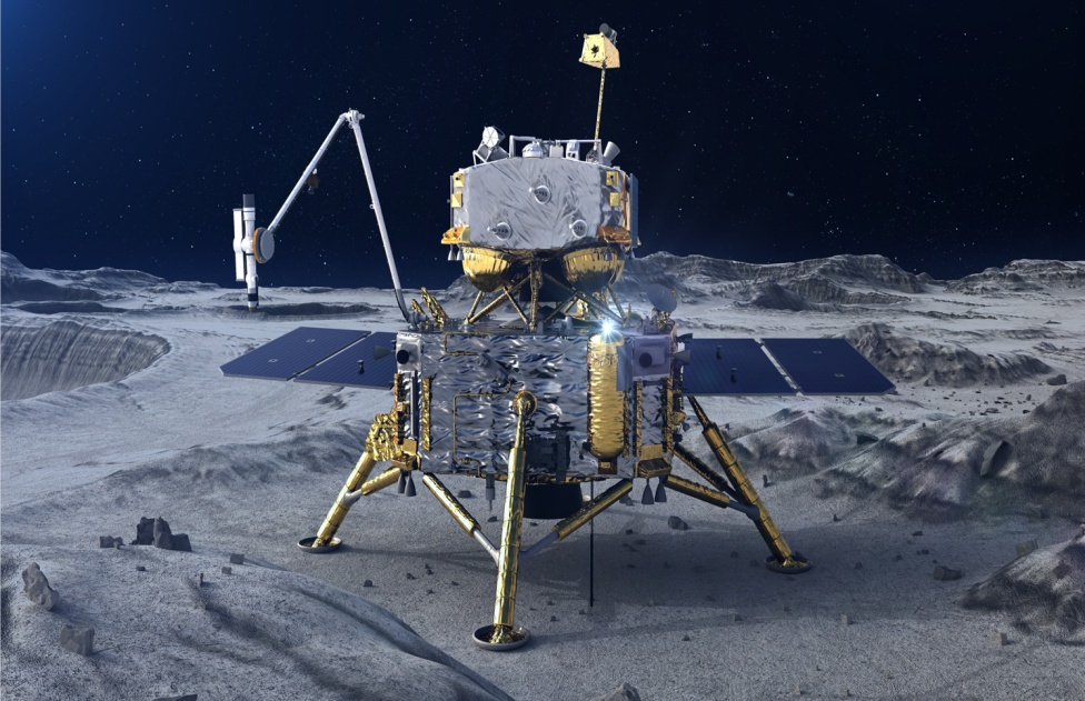China's Chang'e-5 probe completes automatic sampling on lunar surface