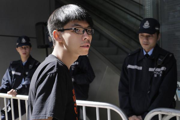 HK court sentences Joshua Wong to 13.5 months in jail