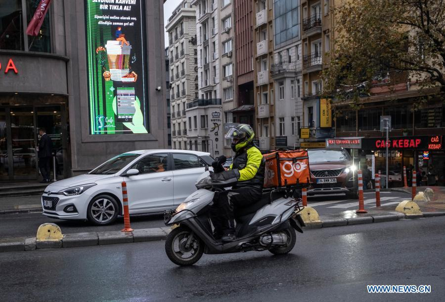 Feature: Turkey's workers switch to delivery jobs amid pandemic