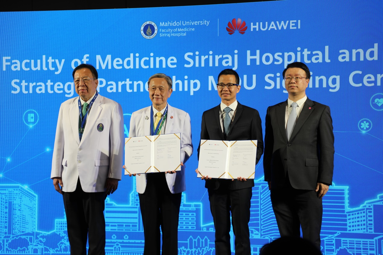 Huawei Thailand and Siriraj Hospital sign deal to develop 5G smart services