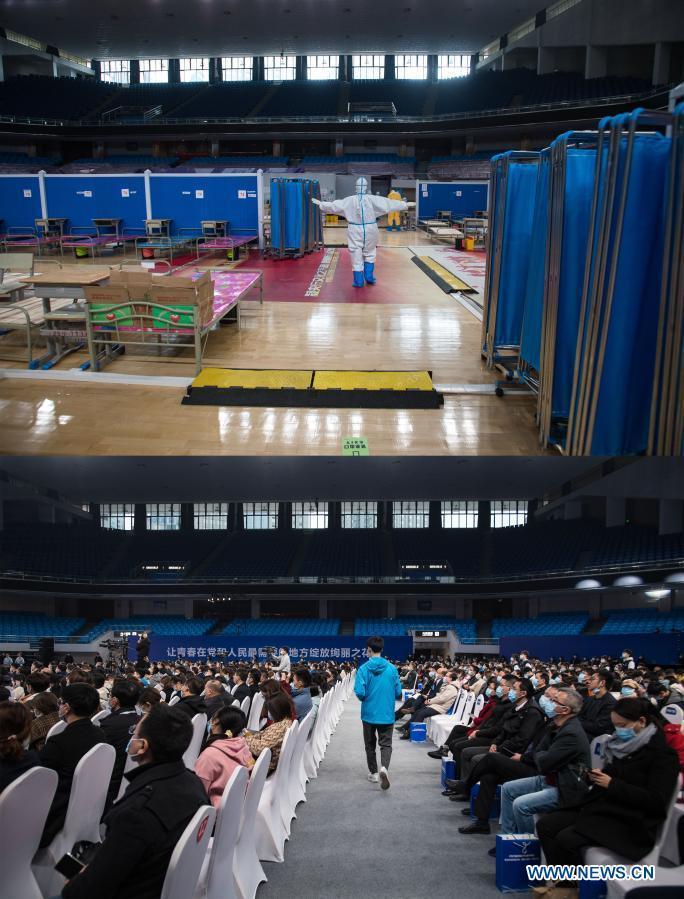 Wuhan's Hongshan Gymnasium: from temporary hospital to job fair venue
