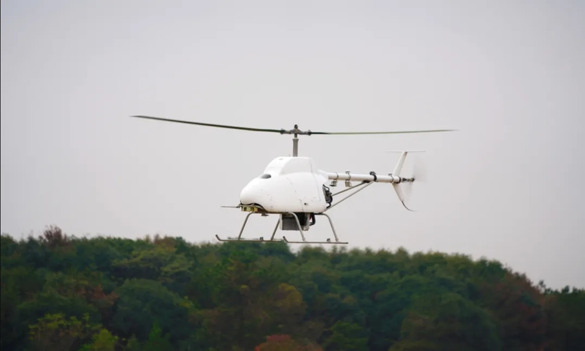 China's first vessel-borne lightweight helicopter drone makes maiden flight