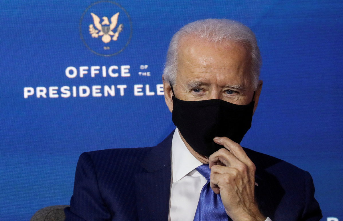 Biden wants face masks worn for his first 100 days in office