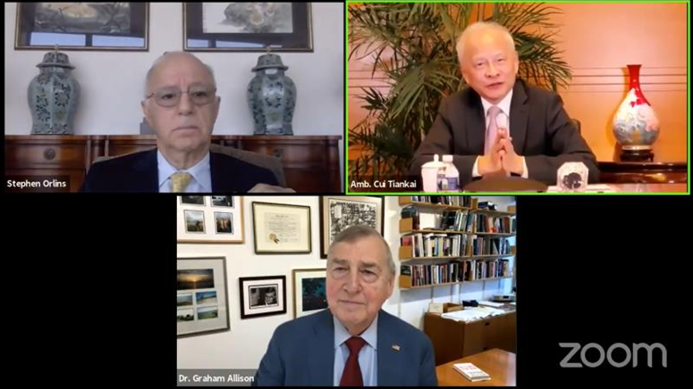 Ambassador Cui: Keep China-US relations on a constructive track towards agreed goals