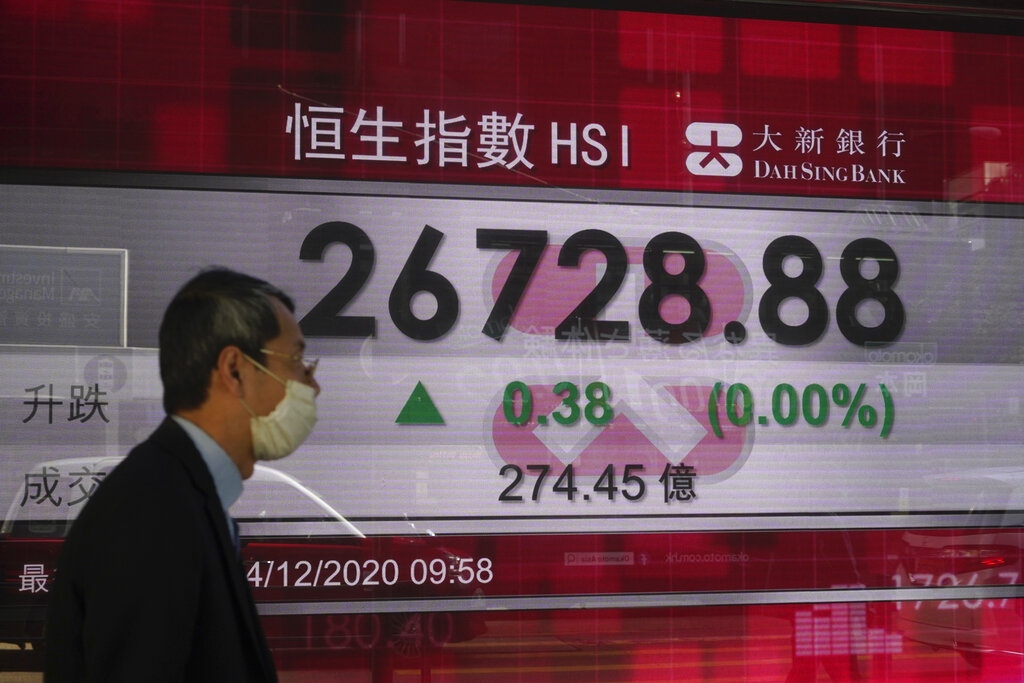 Asian markets mixed as virus cases cloud vaccine optimism