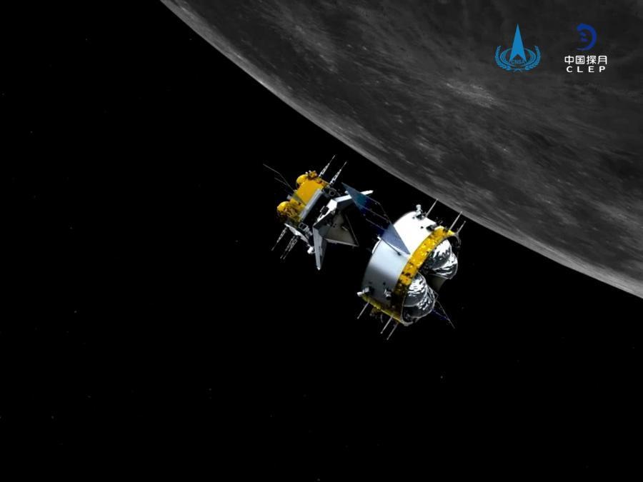 Orbiter-returner combination of Chang'e-5 separates from ascender
