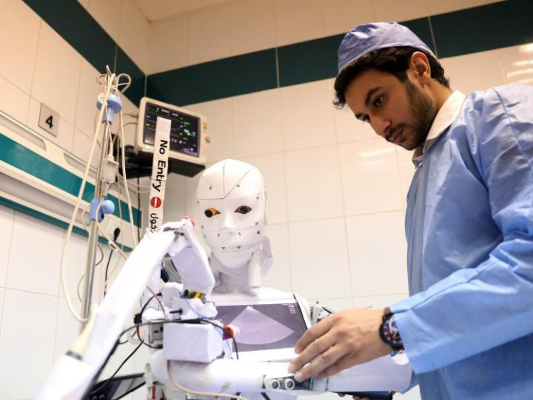 Egyptian inventor tests robot for diagnosing COVID-19