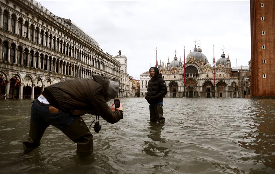 Surprise floods challenge Venice barriers