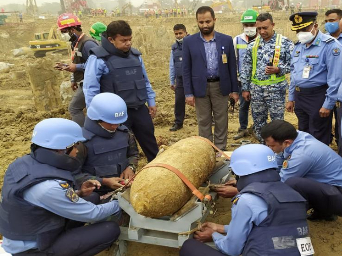250 kg war-time bomb found buried in Bangladesh's main airport