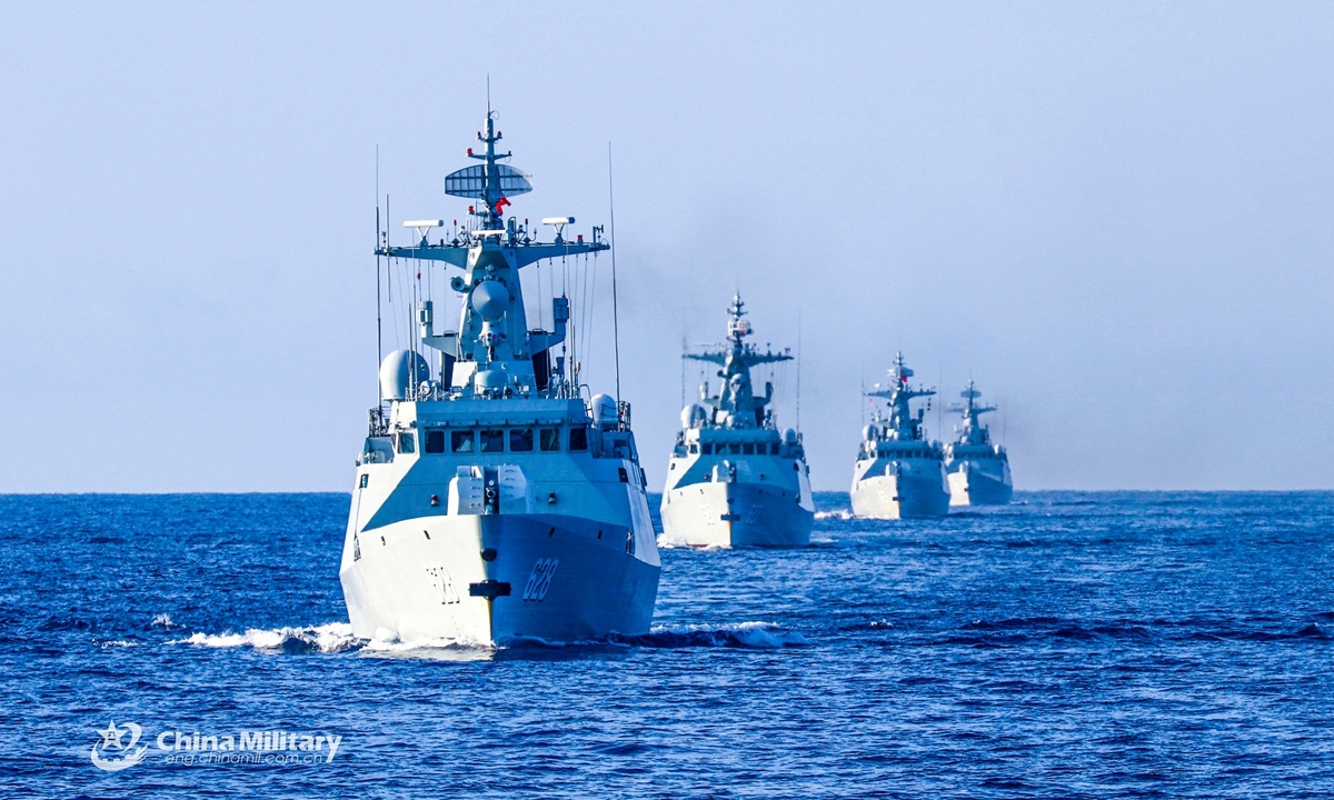 Frigate flotilla conducts training in South China Sea