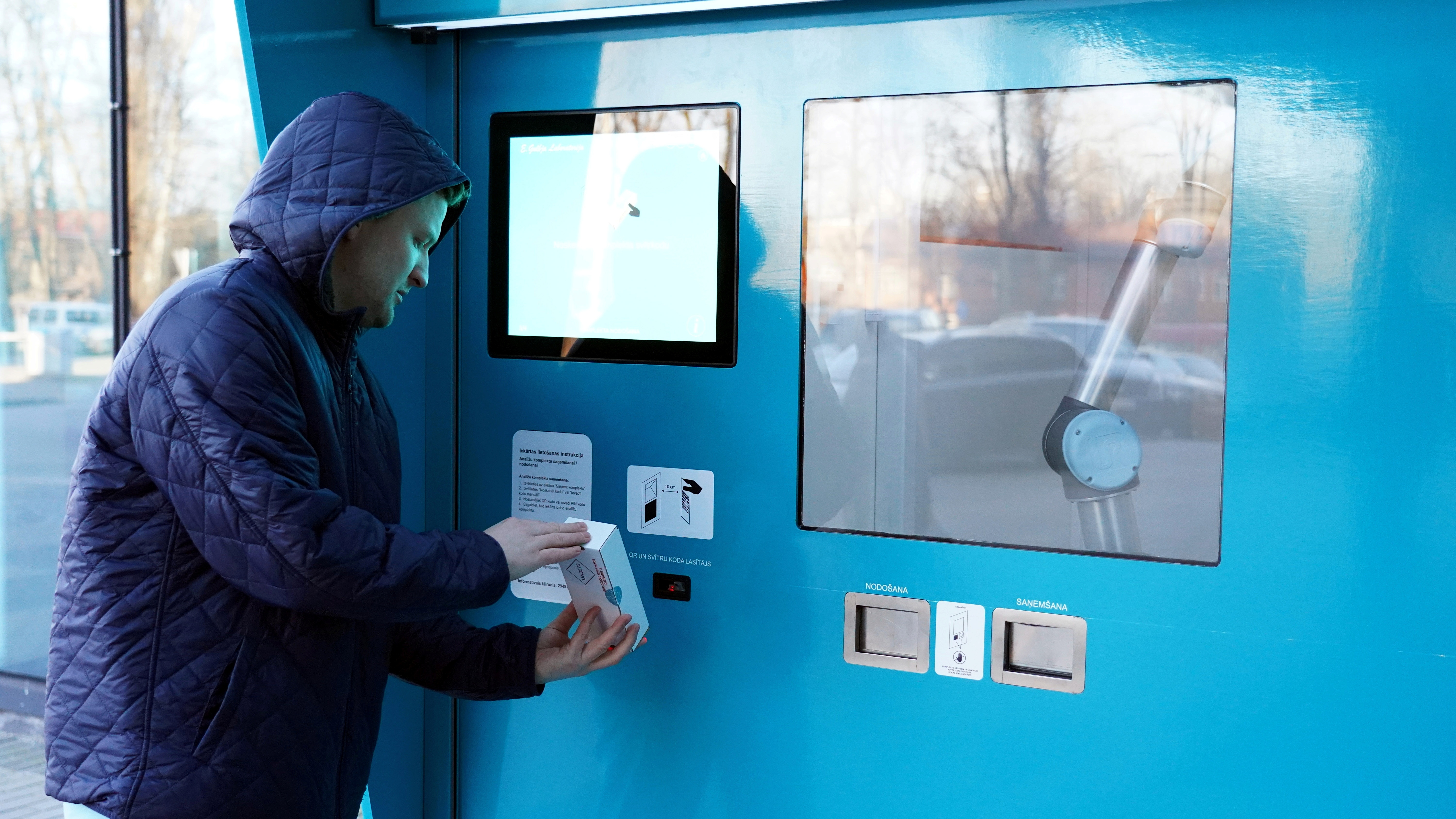 Latvia uses vending machines to help roll out COVID-19 tests