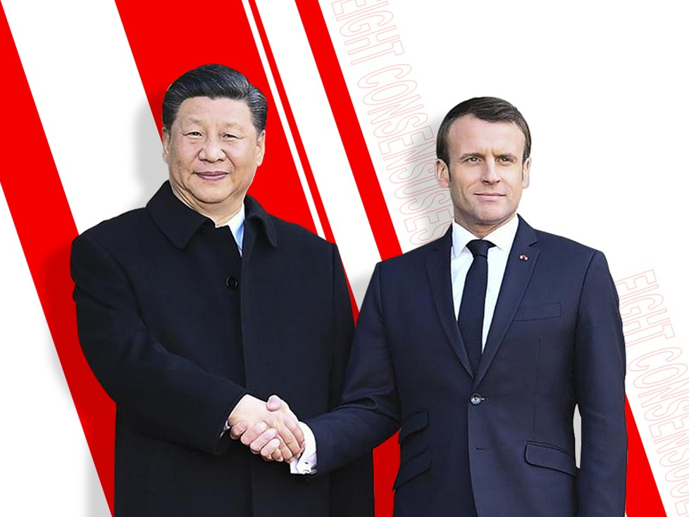 Infographics: Eight consensuses reached by Xi and Macron