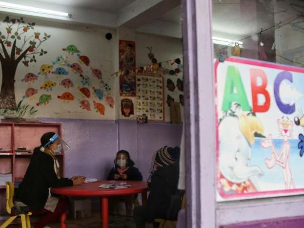 Schools reopen in Kathmandu, Nepal