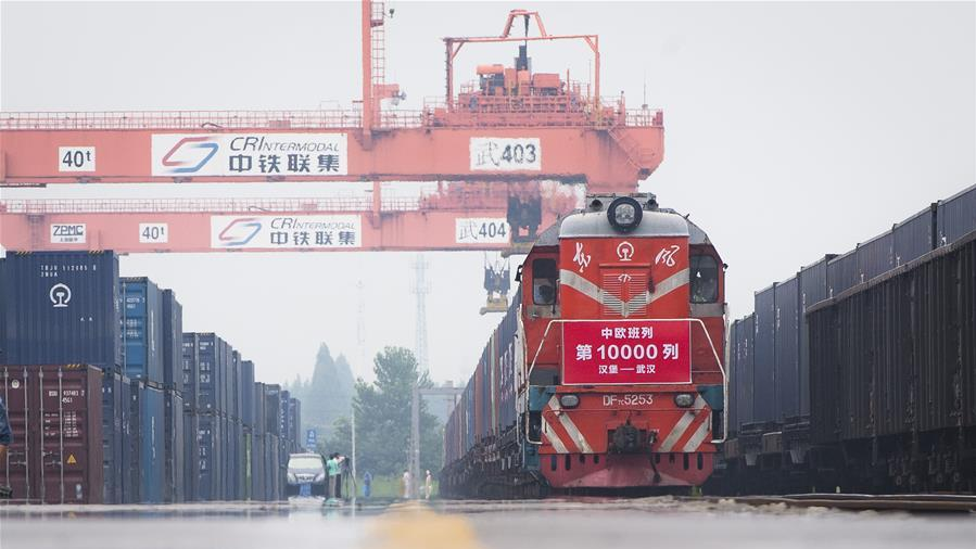 Number of China-Europe freight trains up 64 pct in November