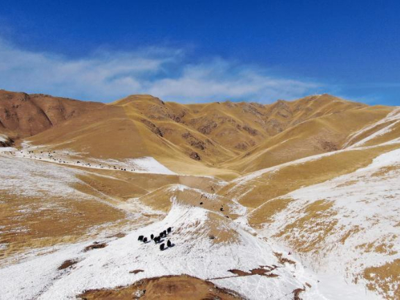Scenery of Qilian County in Qinghai