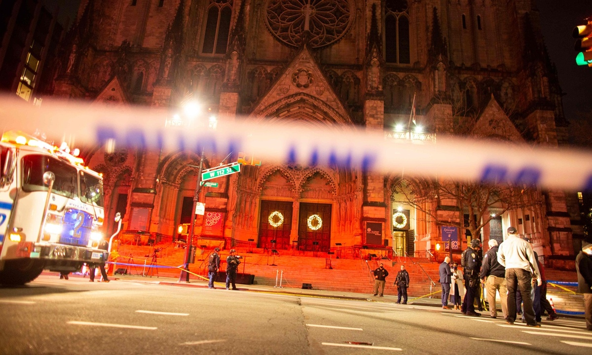 Gunman shot dead by police at NYC church after concert; no one else wounded