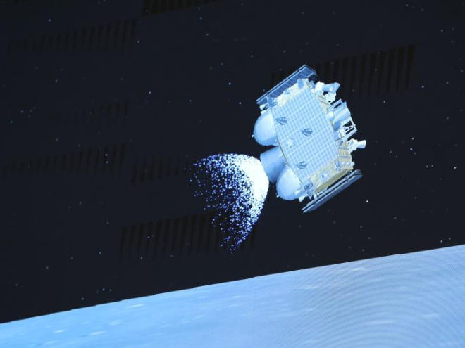 Chang'e-5 bringing crops from space