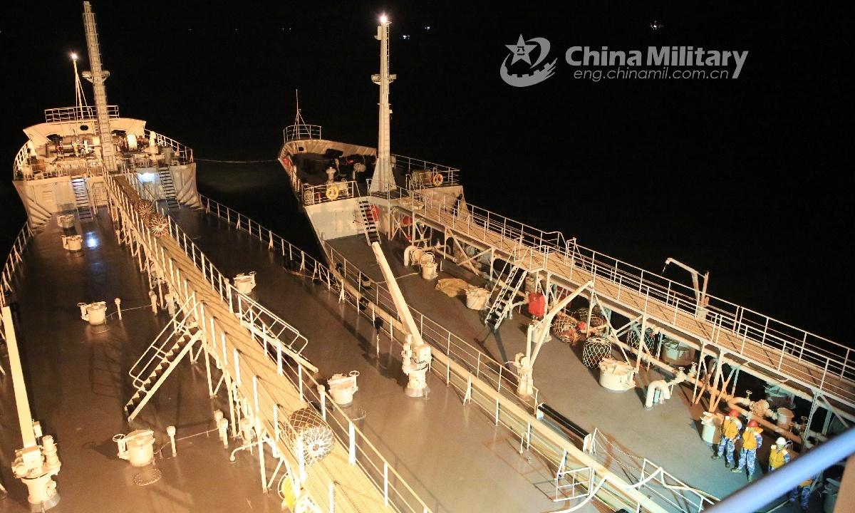 Service vessels participate in maritime test