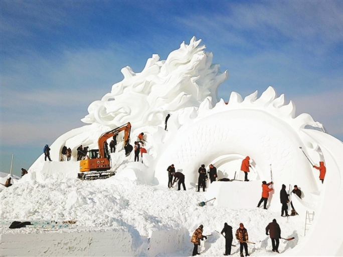 A sneak peek at this year's Harbin Ice and Snow Festival