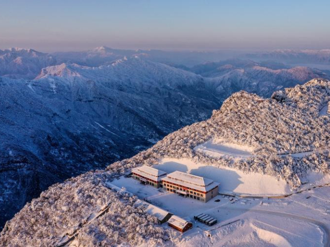 Winter scenery of Longtoushan scenic area in NW China