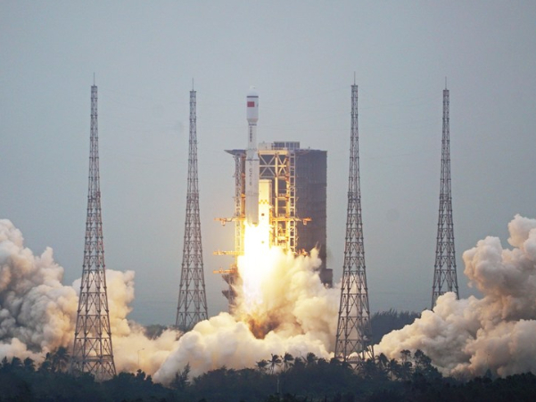 China's new carrier rocket Long March-8 makes maiden flight