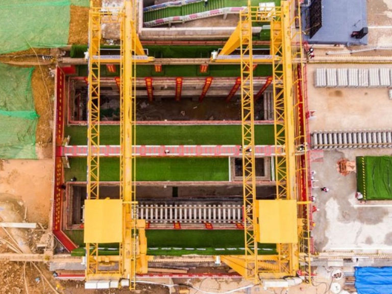 Construction of Changsha Subway Line 6 enters phase of track laying