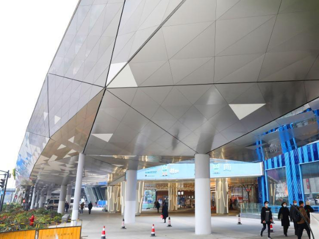 First phase of air corridor project in Xujiahui commercial area opens to public