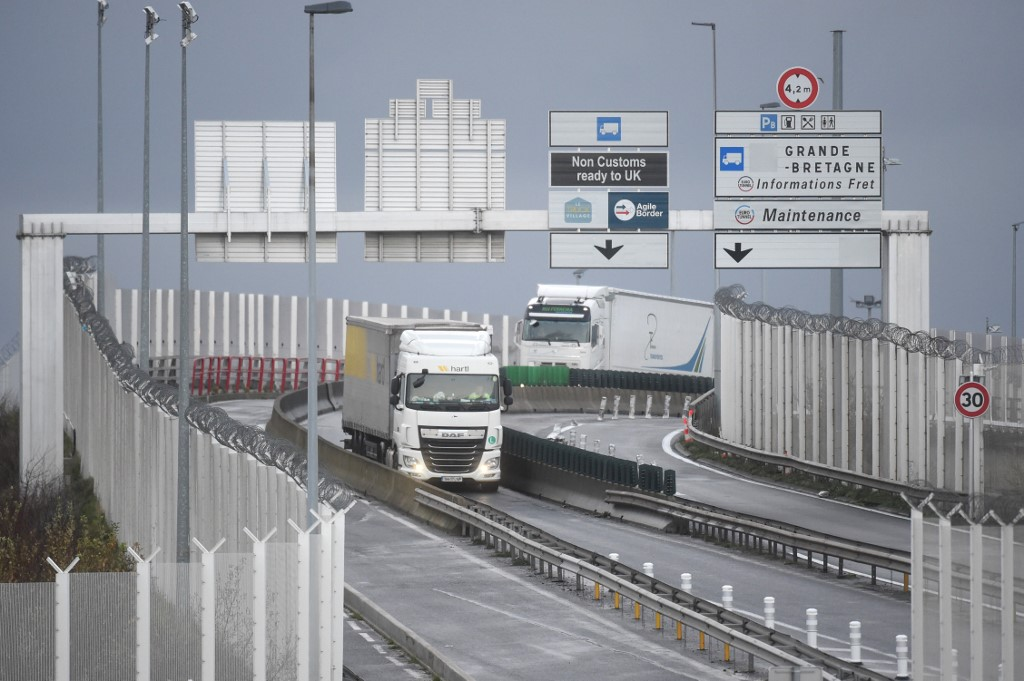Channel logjam eases for truckers blocked in Britain