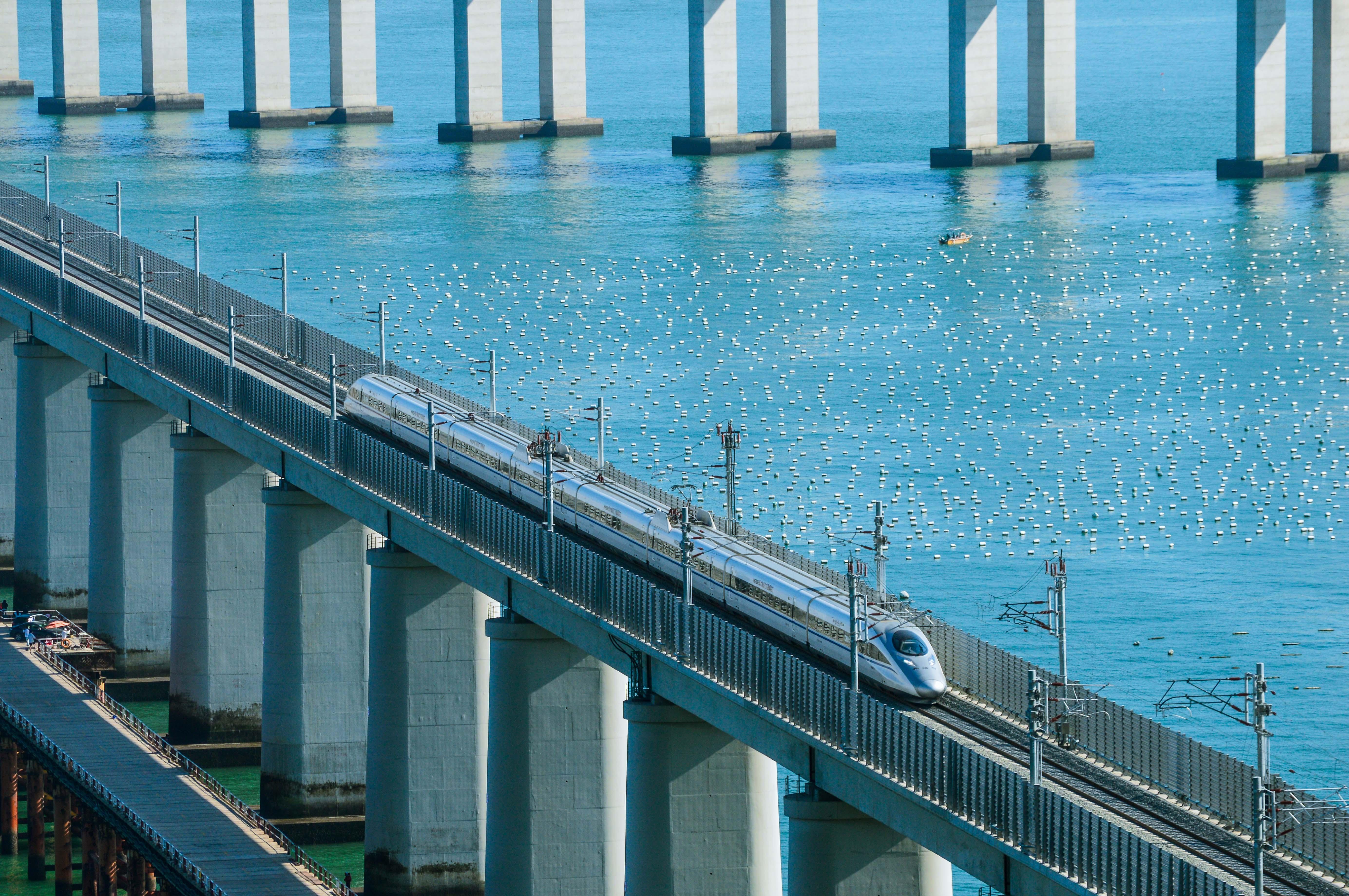 World's longest cross-sea road-rail bridge opens to traffic