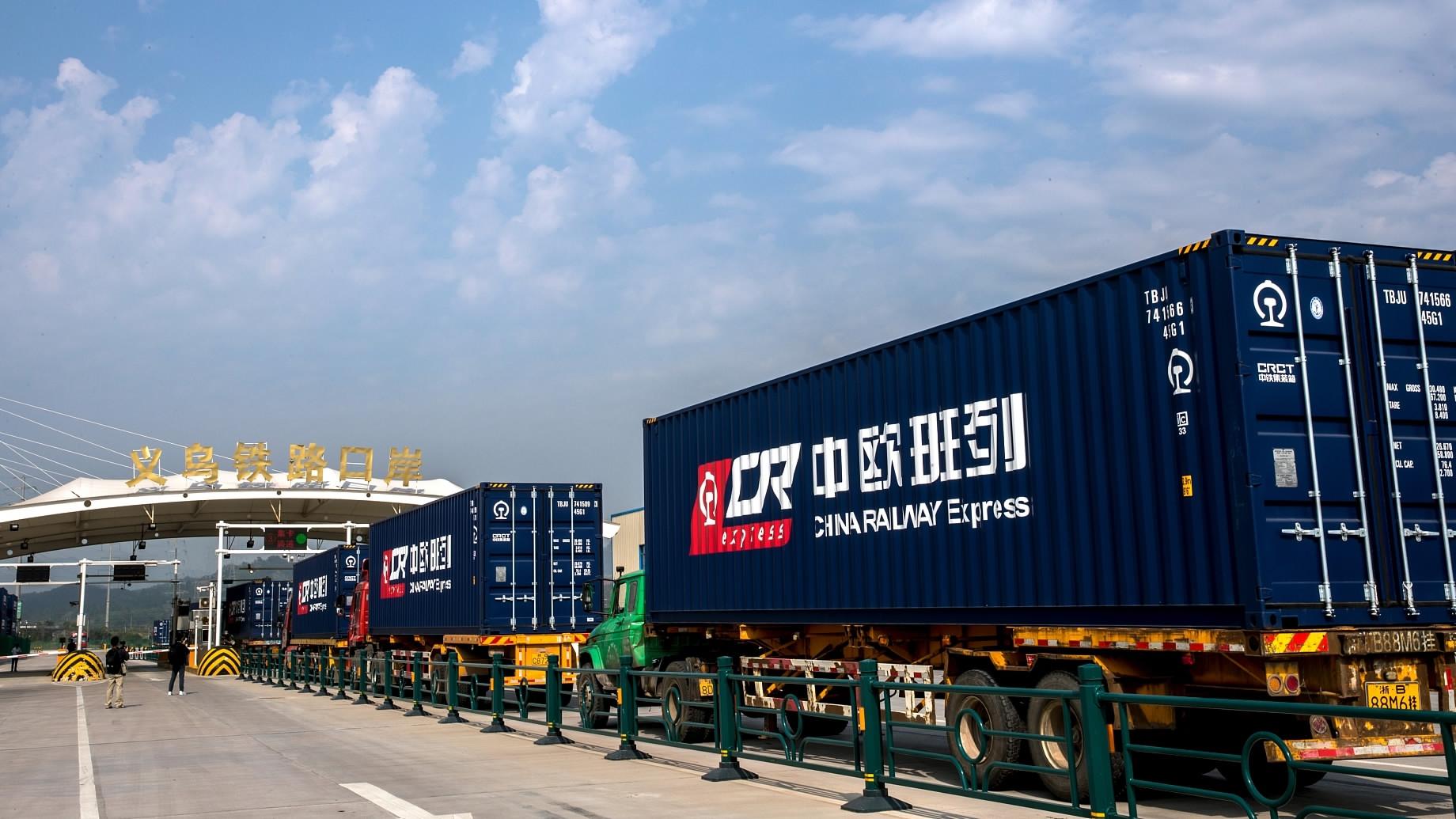 China-Europe freight train transports anti-epidemic supplies to Germany