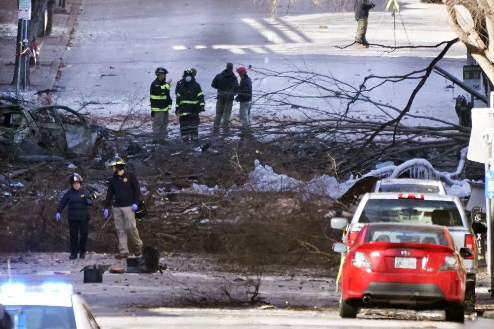 US officials: Suspect in Nashville explosion died in blast