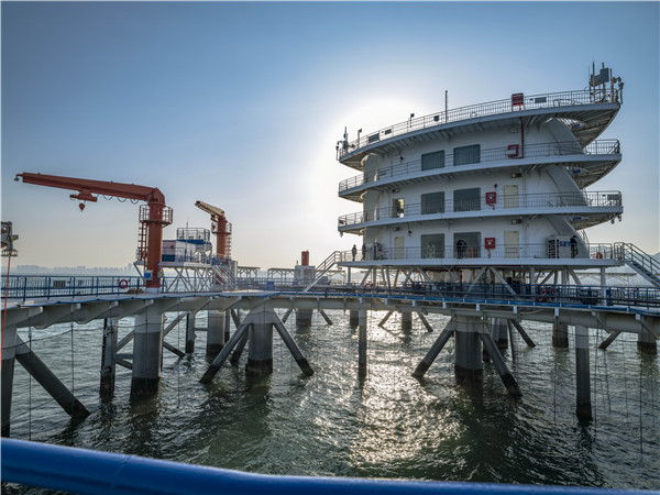 China's first intelligent marine ranch built in Shandong