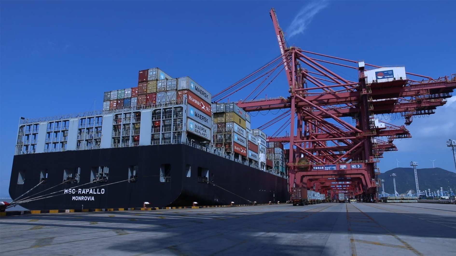 East China port sees record high in sea-rail transport