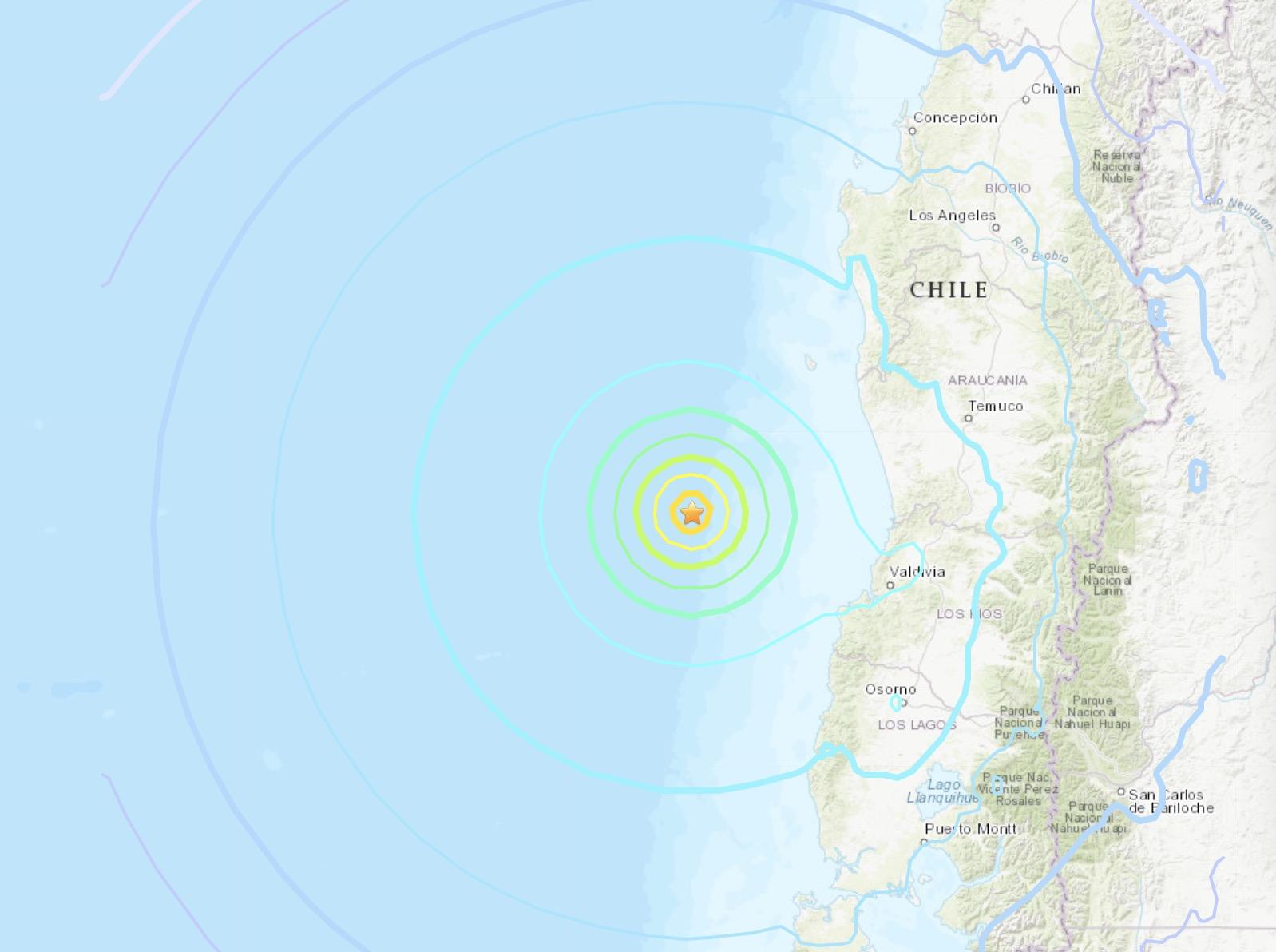 6.8-magnitude quake hits 151 km WNW of Corral, Chile: USGS