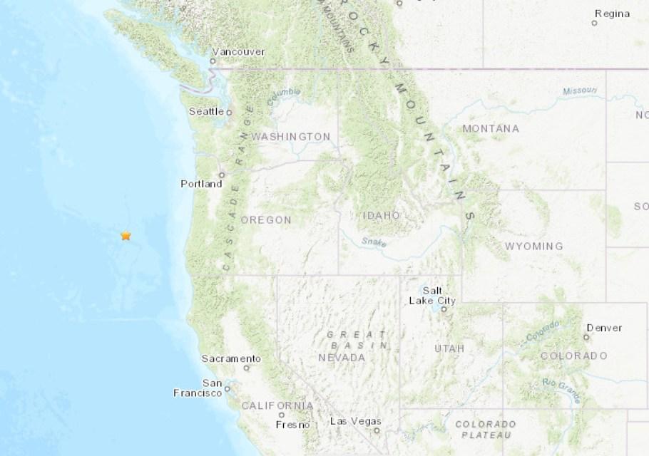 5.7-magnitude quake hits off coast of Oregon: USGS
