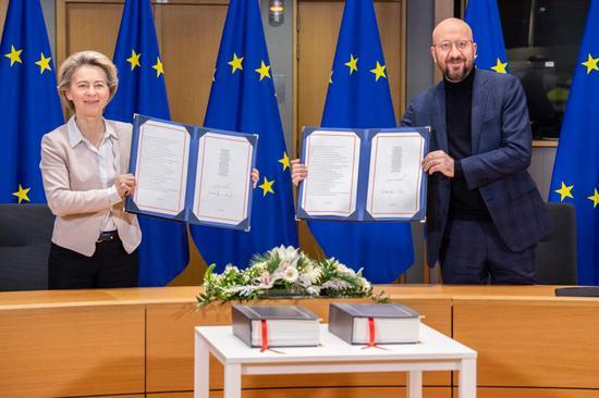 EU leaders sign post-Brexit trade deal with UK