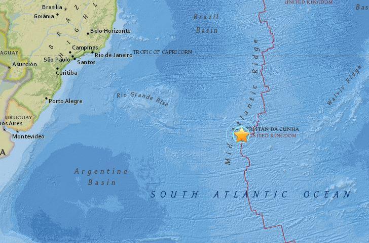 5.9-magnitude quake hits central Mid-Atlantic Ridge -- USGS