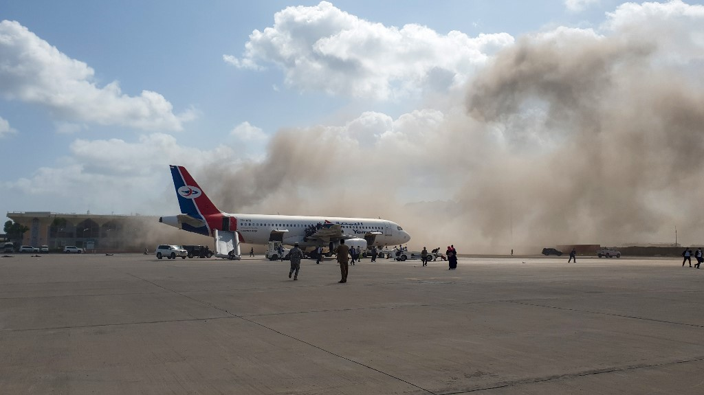 Yemeni official: Blast at Aden airport kills 16, wounds 60