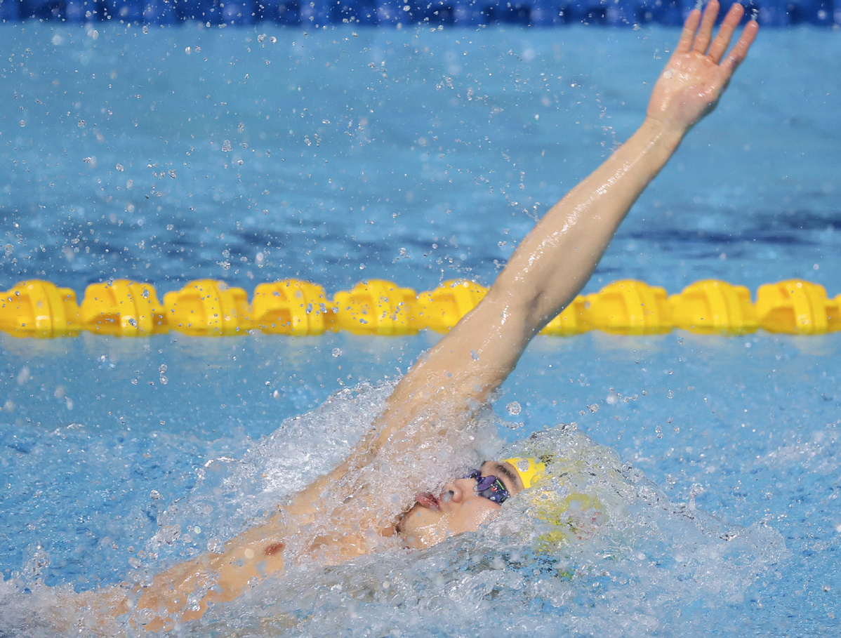 2-time world champion Xu victorious in 100m breaststroke at national swimming challenge