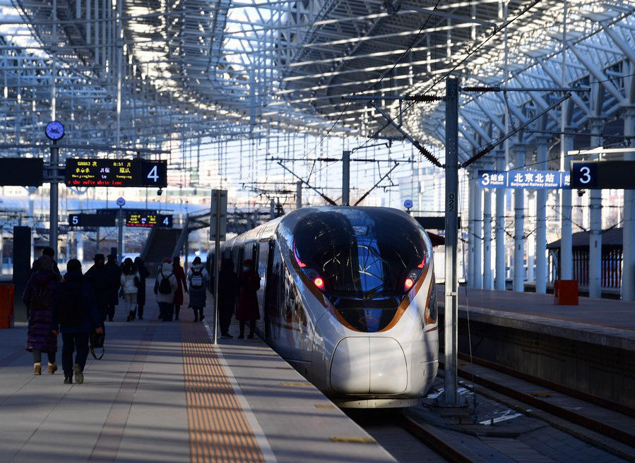 China sees spike in train travel for New Year holiday