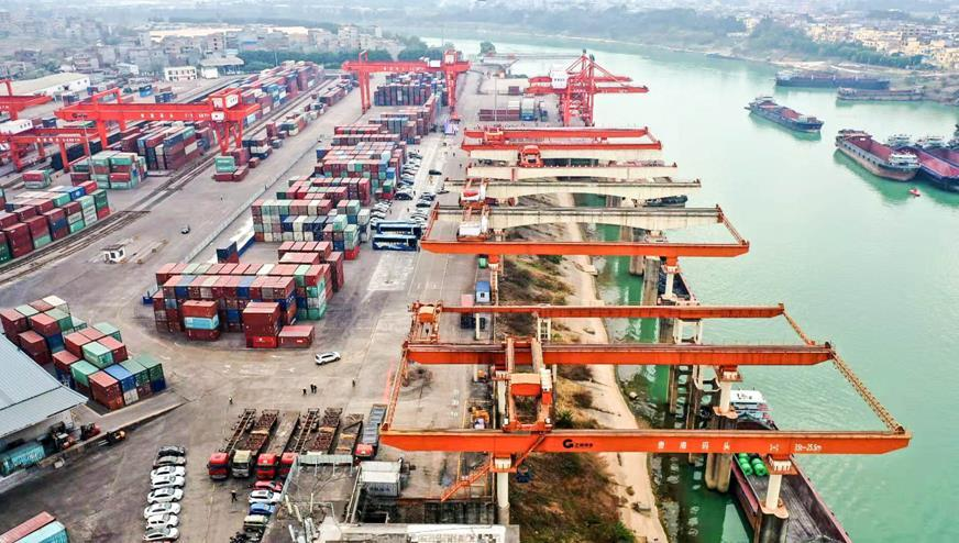 Cargo throughput of Guigang port exceeds 100 million tons