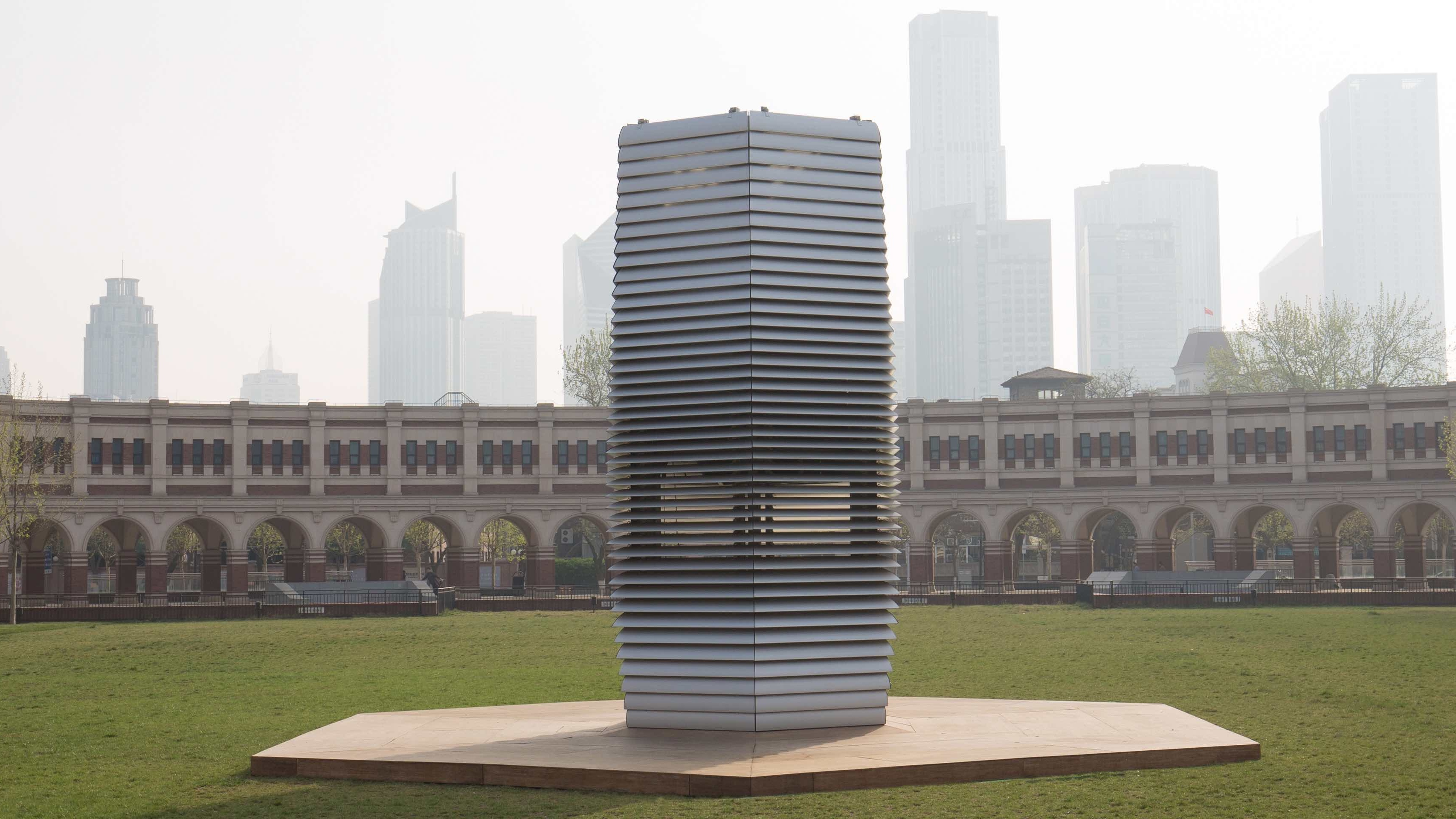 Pollution 'vacuum cleaner' hopes to spread clean air and good vibes
