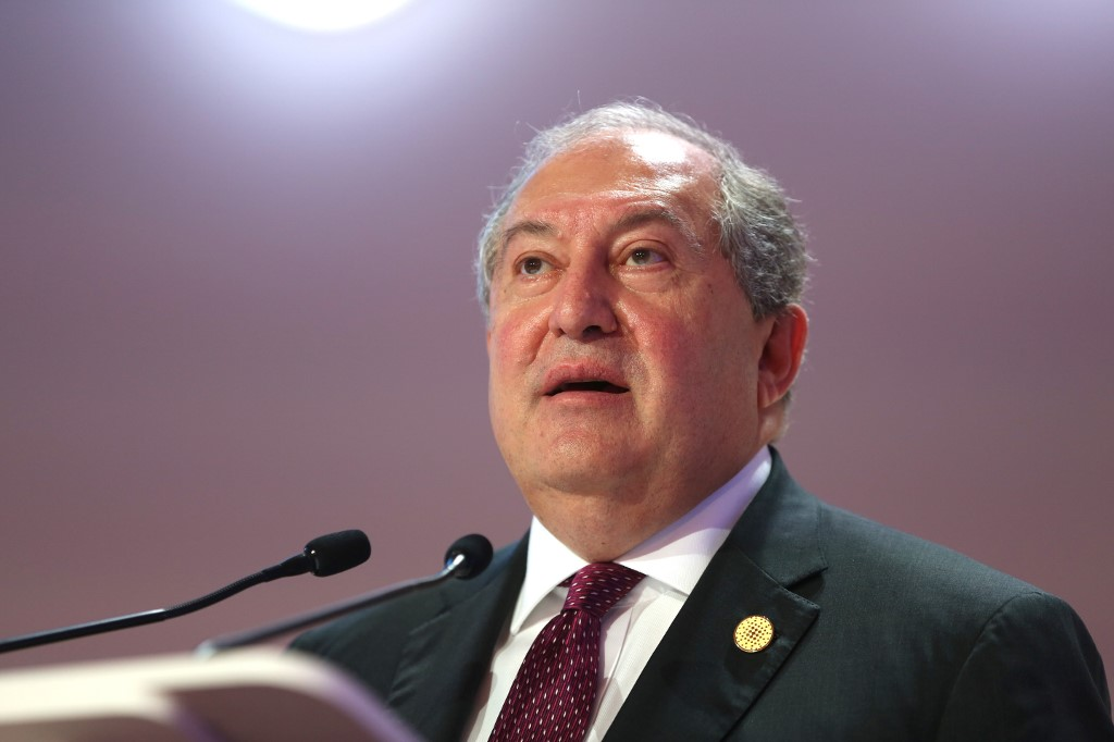 Armenian President Armen Sarkissian tests positive for COVID-19: report