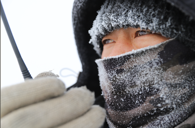 Cold wave strikes most of China
