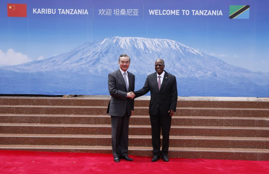 Tanzanian president meets with Chinese FM on bilateral ties