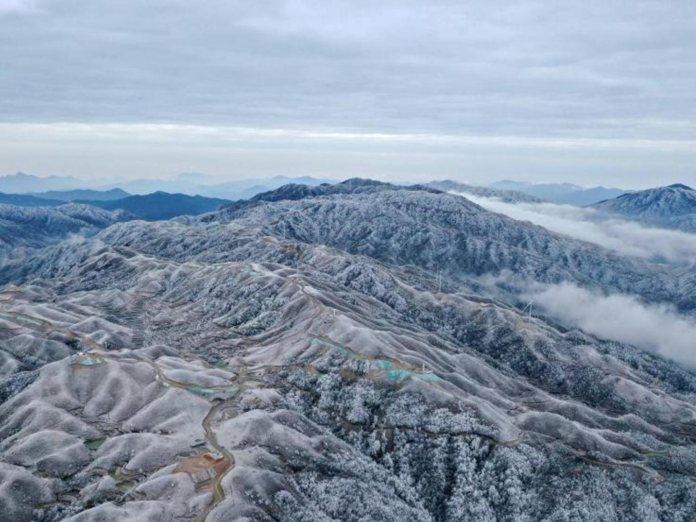 Snow scenery in Rongshui, Guangxi